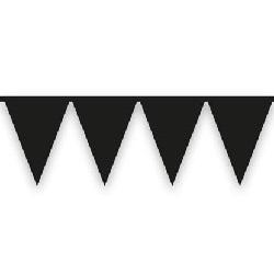 Vlaggenlijn Zwart 10 meter